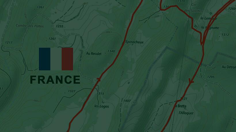 Parcours pédestre autour de l'Auberge Laguienette de Bellecombe - Les 3 cheminées - dans le Haut-Jura.